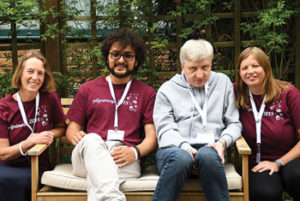 MLD sufferer Scott Clark with staff from L'Arche Kent