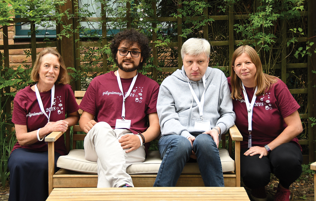 Staff from L'Arche Kent with MLD sufferer Scott Clark